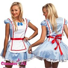 Ladies Girls Alice in Wonderland Costume Fancy Dress Hens Party Full Outfit