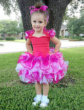 Cupcake Halter National Pageant Dress Shell DIY Party Kid Size 2T-11 PT002