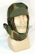 Woodland Army Insulated Cold Weather FLEECE HELMET LINER Hat 7 3/4 XL 6 1/2 XS