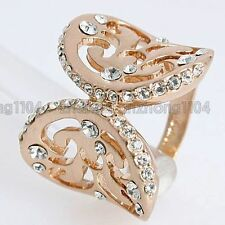 Free Shipping 2ct Clear Crystal 18K Gold Plated New Arrival Fashion Ring 95537