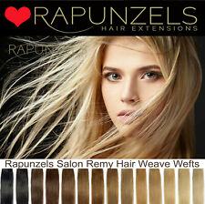 "HUMAN REMY HAIR EXTENSIONS WEFT, HALF HEAD 65G. 16"", 20"", 24"" LONG - ALL COLOURS"