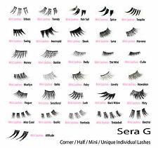 Long Short Natural Thick Corner Half Individual  False Eyelashes Fake Lashes