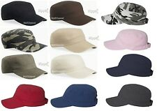 Valucap Fidel Cap - Cadet Military Style Hat - VC800 Chino Twill - 13 Colors NEW