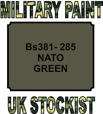 BS381-285 NATO GREEN MILITARY PAINT METAL STEEL HEAT RESISTANT ENGINE  VEHICLE