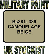 389 CAMOUFLAGE BEIGE MILITARY PAINT METAL STEEL HEAT RESISTANT ENGINE  VEHICLE
