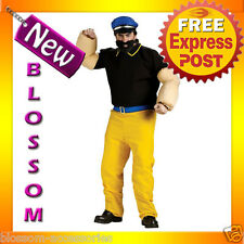 C525 Popeye Brutus Villian Bad Guy Sailor Humourous Mens Party Costume Outfit