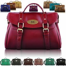 Large Womens Designer Leather Style Satchel Bags Shoulder Office Laptop Handbags