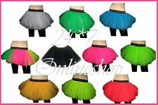 Plus Size Neon UV Tutu Skirt Hen Night Party Fancy Dress  Dance Wear Rave Funky