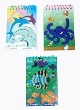 10, 15 or 20 colourful sealife note book ideal party loot bags lucky dip fillers