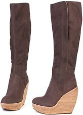 Joe's Jeans Glider Brown Knee High Boot $345 Leather Shoes NEW tall boots