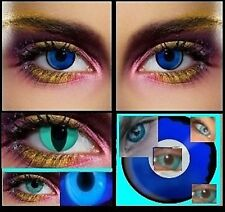 lens blue lenses fashion fun vampire couloured halloween lens party contact NEW