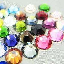 Crystal Clear / AB / Colors Iron on Craft Diamond Gem Beads Hot fix Rhinestones