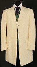 MJ - 11. Mens cream and pale gold Prince Edward wedding - dress - evening jacket
