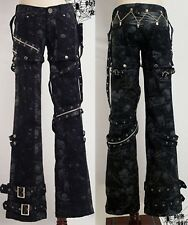 sexy visual kei PUNK Rave gothic skull rock removalbe pants trousers S-XXL