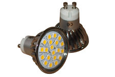 40 X GU10 - 20 SMD LED REPLACES 50/60 W HALOGEN BULBS * IP44