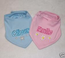 NEW Personalised Baby Bandana Style dribble Bib, Embroidered with any name! Gift