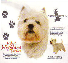 WOMEN'S LOVELY FULL COLOR DOG BREED STORY:WEST HIGHLAND TERRIER T-SHIRT S-2XL