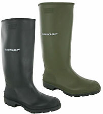 New Mens Dunlop Green or Black Wellingtons Snow Boots Quality Wellies Size 6-12
