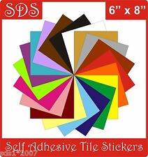 "Tile transfers stickers 6""  X 8"" self adhesive packs of  5, 10,20,30,40,50"
