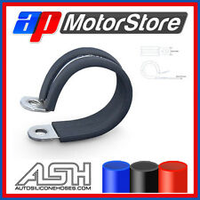 5 X Rubber Lined Pclips - P Clips Metal Clamps Retaining Hose Cable Wire Epdm