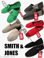 MENS LATEST FASHION SMITH&JONES CANVAS PUMPS ESPADRILLE. 5 COLOURS. SIZE 6-12
