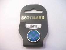New Tartan Nickel Lapel Pin Leslie - MacLellan