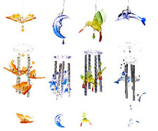 2 Solar Color Changing Hummingbird Moon Stars Butterfly Dolphin Wind Chime Light