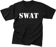 Black Official Issue SWAT Tactical Raid Double Sided T-Shirt