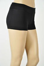 Yoga Fitness Gym Athletic Short w/ Fold Over Color Waist .Sizes S-M-L 7 Colors