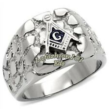 316L Stainless Steel Rugged Style Masonic Mason Men Ring SIZE 9-13