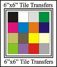 """6"""" Tile Transfers / Stickers 6"""" Packs of 10,20,30,40,50 many colours"""