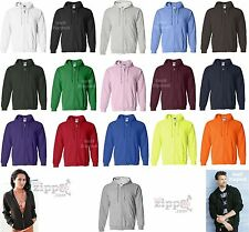 Gildan Heavy Blend Full Zip Hooded Sweatshirt Hoodie 18600 S-XL cotton/polyester