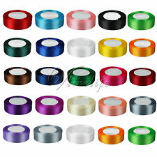 "1 Roll 25 Yards 1"" 25mm  Satin Ribbon Craft Bow Wedding Party Supply Colours"
