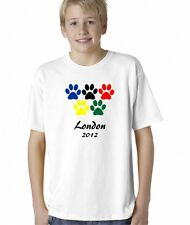 Kids Boys Childrens London 2012 Olympics Games Sports T-Shirt Tee