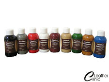 GREY 50-250 ML Leather Colour Coat Re-Colouring / Dye Stain Pigment Paint