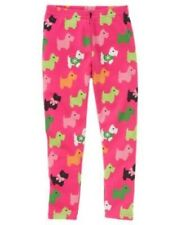 GYMBOREE CHEERY ALL THE WAY PINK SCOTTIE DOG PRINT LEGGINGS 3 4 6 7 9 NWT