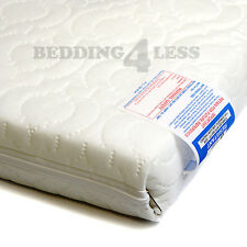 ALL SIZES Baby Cot Bed QUILTED MATTRESS Anti Allergenic with WATERPROOF Cover