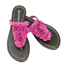 SUMMER FLOWER BLOSSOM FLAT FLIP FLOP SANDALS