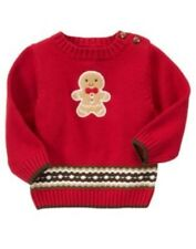 GYMBOREE GINGERBREAD BOY RED COOKIE L/S SWEATER 3 6 12 18 24 NWT