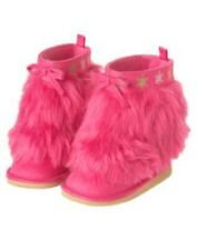 GYMBOREE CHEERY ALL THE WAY PINK  SNOWFLAKE FUR BOOTS 03 5 6 7 11 NWT
