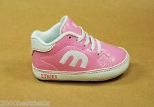 ETNIES SHOES NEW BORN CALLI CRIB 4501000003-682 PINK WHITE SHOES LITTLE GIRLS