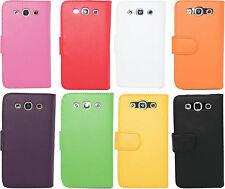 Extra Fine Leather Flip Wallet Case Cover Pouch Samsung Galaxy S3 i9300 i9305