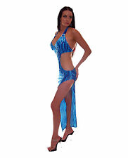 Cut Away Elegant Long Dress Stripper Lap Exotic Dancer AUSTRALIAN MADE