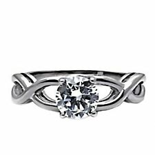 Infinity Stainless Steel 1.25c Russian Ice on Fire CZ Promise Friendship Ring