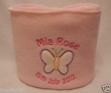 Personalised Baby Blanket - Embroidered DOUBLE THICK fleece, Christening Gift