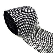 Rhinestone ribbon/diamond wrap mesh sparkling silver crystal roll bling 1 Yd