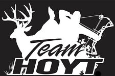 Hoyt Archery And Deer Hunter  Hunting Logo  Decal   Custom Size/Color