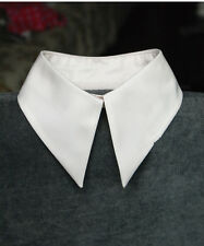 New Women's Vintage Peter Pan Detachable collar Necklace Choker Unisex Tie White