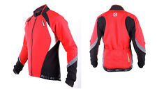 SOBIKE Cycling Outdoor Fleece Thermal Long Jersey Winter Jacket Coat-Aurora Red