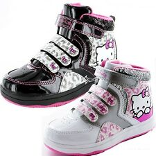Girls Hello Kitty Stonechat Hi Top Trainers Boots Shoe Sizes 8-2